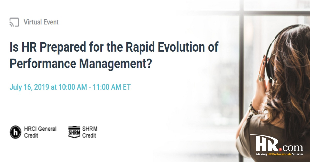 Is HR Prepared for the Rapid Evolution of Performance Management?