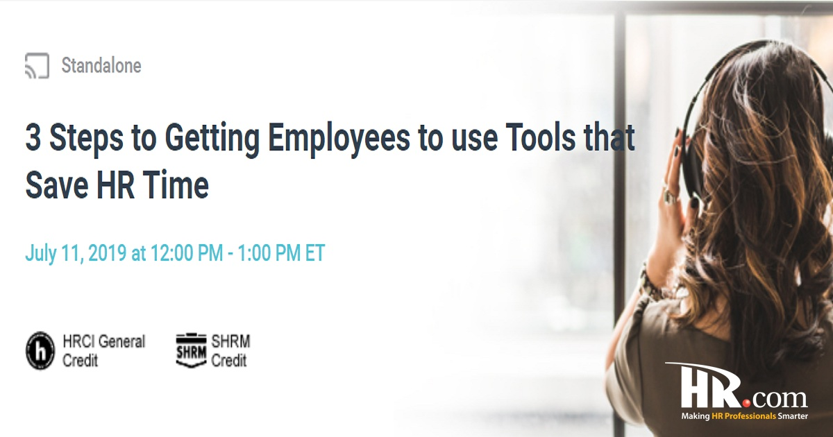 3 Steps to Getting Employees to use Tools that Save HR Time