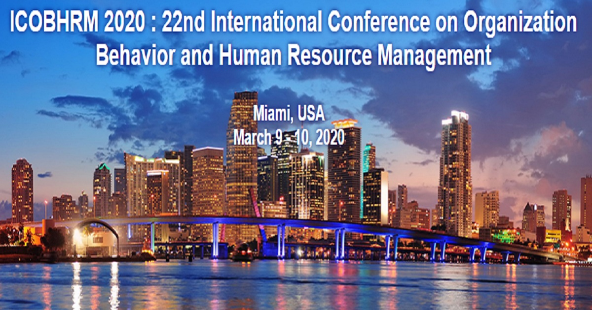ICOBHRM 2020 : 22nd International Conference on Organization Behavior and Human Resource Management