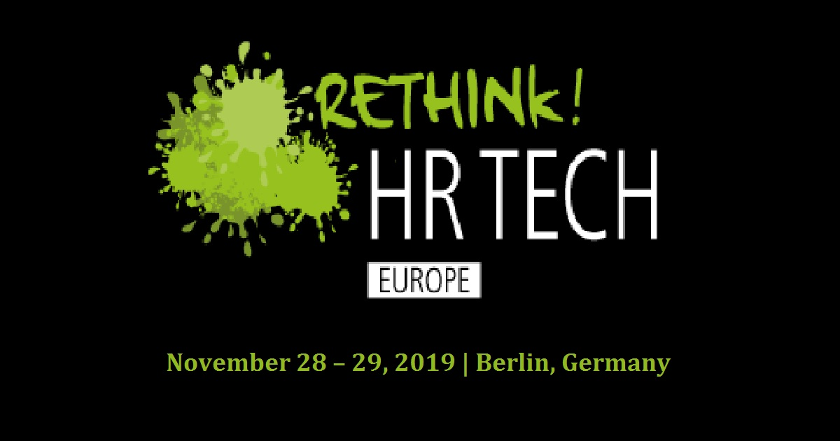 Rethink HR Tech Europe 2019