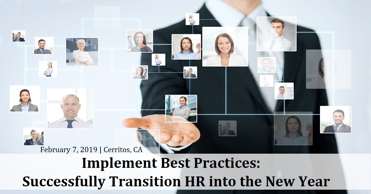 Implement Best Practices: Successfully Transition HR into the New Year