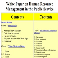 white paper on human resource management in the public service 2000 The age structure of the public service is age of central human resources management body: human resources management country profiles japan.